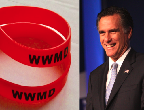 """What Would Mitt Do?"" Bracelets Appear After Romney Votes to Convict Trump"