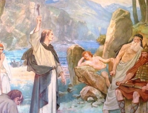 """St. Columba and the Loch Ness Monster"""